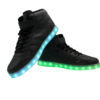 Galaxy LED Shoes Light Up USB Charging High Top Men/Women Sneakers (Black) 3