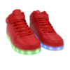 Galaxy LED Shoes Light Up USB Charging High Top Lace & Strap Adult Sneakers (Red) 2