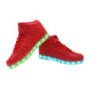 Galaxy LED Shoes Light Up USB Charging High Top Lace & Strap Adult Sneakers (Red) 3
