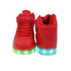 Galaxy LED Shoes Light Up USB Charging High Top Lace & Strap Adult Sneakers (Red) 4