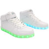 Galaxy LED Shoes Light Up USB Charging High Top Lace & Strap Men's Sneakers (White) 2