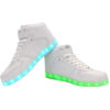 Galaxy LED Shoes Light Up USB Charging High Top Lace & Strap Men's Sneakers (White) 3