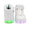 Galaxy LED Shoes Light Up USB Charging High Top Lace & Strap Men's Sneakers (White) 4