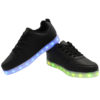 Galaxy LED Shoes Light Up USB Charging Low Top Men's Sneakers (Black) 3