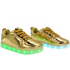 Galaxy LED Shoes Light Up USB Charging Low Top Kids Sneakers (Gold Glossy) 2
