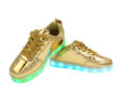 Galaxy LED Shoes Light Up USB Charging Low Top Kids Sneakers (Gold Glossy) 3
