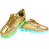 Galaxy LED Shoes Light Up USB Charging Low Top Men's Sneakers (Gold Glossy) 3