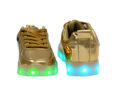 Galaxy LED Shoes Light Up USB Charging Low Top Kids Sneakers (Gold Glossy) 4