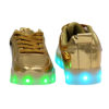 Galaxy LED Shoes Light Up USB Charging Low Top Men's Sneakers (Gold Glossy) 4