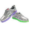 Galaxy LED Shoes Light Up USB Charging High Top Adult Sneakers (Silver Glossy) 3