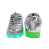 Galaxy LED Shoes Light Up USB Charging High Top Adult Sneakers (Silver Glossy) 4