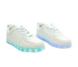 Galaxy LED Shoes Light Up USB Charging Low Top Kids Sneakers (White) 2