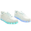 Galaxy LED Shoes Light Up USB Charging Low Top Men's Sneakers (White) 2