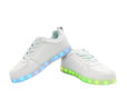Galaxy LED Shoes Light Up USB Charging Low Top Kids Sneakers (White) 3