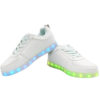 Galaxy LED Shoes Light Up USB Charging Low Top Men's Sneakers (White) 4
