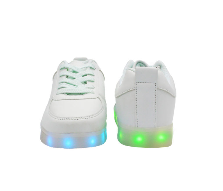 Galaxy LED Shoes Light Up USB Charging Low Top Men's Sneakers (White)