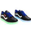 Galaxy LED Shoes Light Up USB Charging Low Top Wave Adult Sneakers (Black) 2