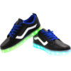 Galaxy LED Shoes Light Up USB Charging Low Top Wave Adult Sneakers (Black) 3