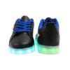 Galaxy LED Shoes Light Up USB Charging Low Top Wave Adult Sneakers (Black) 4