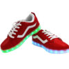 Galaxy LED Shoes Light Up USB Charging Low Top Wave Adult Sneakers (Red) 3