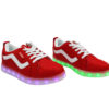 Galaxy LED Shoes Light Up USB Charging Low Top Wave Adult Sneakers (Red) 2
