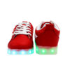 Galaxy LED Shoes Light Up USB Charging Low Top Wave Adult Sneakers (Red) 4