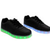 Galaxy LED Shoes Light Up USB Charging Low Top Pattern Adult Sneakers (Black) 2