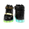 Galaxy LED Shoes Light Up USB Charging High Top Plated Lace & Strap Adult Sneakers (Black Glossy/Gold) 4