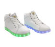 Galaxy LED Shoes Light Up USB Charging High Top Angel Lace & Strap (White) 2