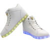 Galaxy LED Shoes Light Up USB Charging High Top Angel Lace & Strap (White) 3