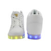 Galaxy LED Shoes Light Up USB Charging High Top Angel Lace & Strap (White) 4