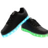 Galaxy LED Shoes Light Up USB Charging Low Top Pattern Adult Sneakers (Black) 3