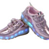 Galaxy LED Shoes Light Up USB Charging Rolling Wings Kids Sneakers (Pink Glossy) 2