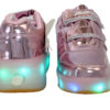 Galaxy LED Shoes Light Up USB Charging Rolling Wings Kids Sneakers (Pink Glossy) 3