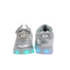 Galaxy LED Shoes Light Up USB Charging Low Top Lace & Strap Kids Sneakers (Silver Glossy) 4