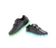 Galaxy LED Shoes Light Up USB Charging Low Top Straps Kids Sneakers (Black Glossy) 3