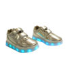 Galaxy LED Shoes Light Up USB Charging Low Top Strap Kids Sneakers (Gold Glossy) 2