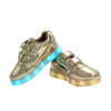 Galaxy LED Shoes Light Up USB Charging Low Top Strap Kids Sneakers (Gold Glossy) 3