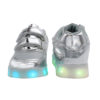 Galaxy LED Shoes Light Up USB Charging Low Top Straps Kids Sneakers (Silver Glossy) 4
