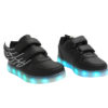 Galaxy LED Shoes Light Up USB Charging Low Top Wings Kids Sneakers (Black) 2