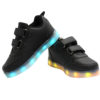 Galaxy LED Shoes Light Up USB Charging Low Top Wings Kids Sneakers (Black) 3