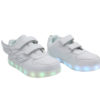 Galaxy LED Shoes Light Up USB Charging Low Top Wings Kids Sneakers (White) 2