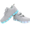 Galaxy LED Shoes Light Up USB Charging Low Top Wings Kids Sneakers (White) 3