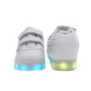 Galaxy LED Shoes Light Up USB Charging Low Top Wings Kids Sneakers (White) 4