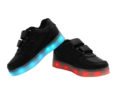Galaxy LED Shoes Light Up USB Charging Low Top Strap Kids Sneakers (Black) 3