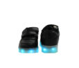 Galaxy LED Shoes Light Up USB Charging Low Top Strap Kids Sneakers (Black) 4