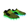 Galaxy LED Shoes Light Up USB Charging Low Top Sport Knit Kids Sneakers (Green/Black) 2