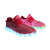 Galaxy LED Shoes Light Up USB Charging Low Top Sport Knit Kids Sneakers (Pink) 2