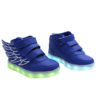 Galaxy LED Shoes Light Up USB Charging High Top Wings Kids Sneakers (Blue) 2