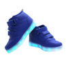 Galaxy LED Shoes Light Up USB Charging High Top Wings Kids Sneakers (Blue) 3